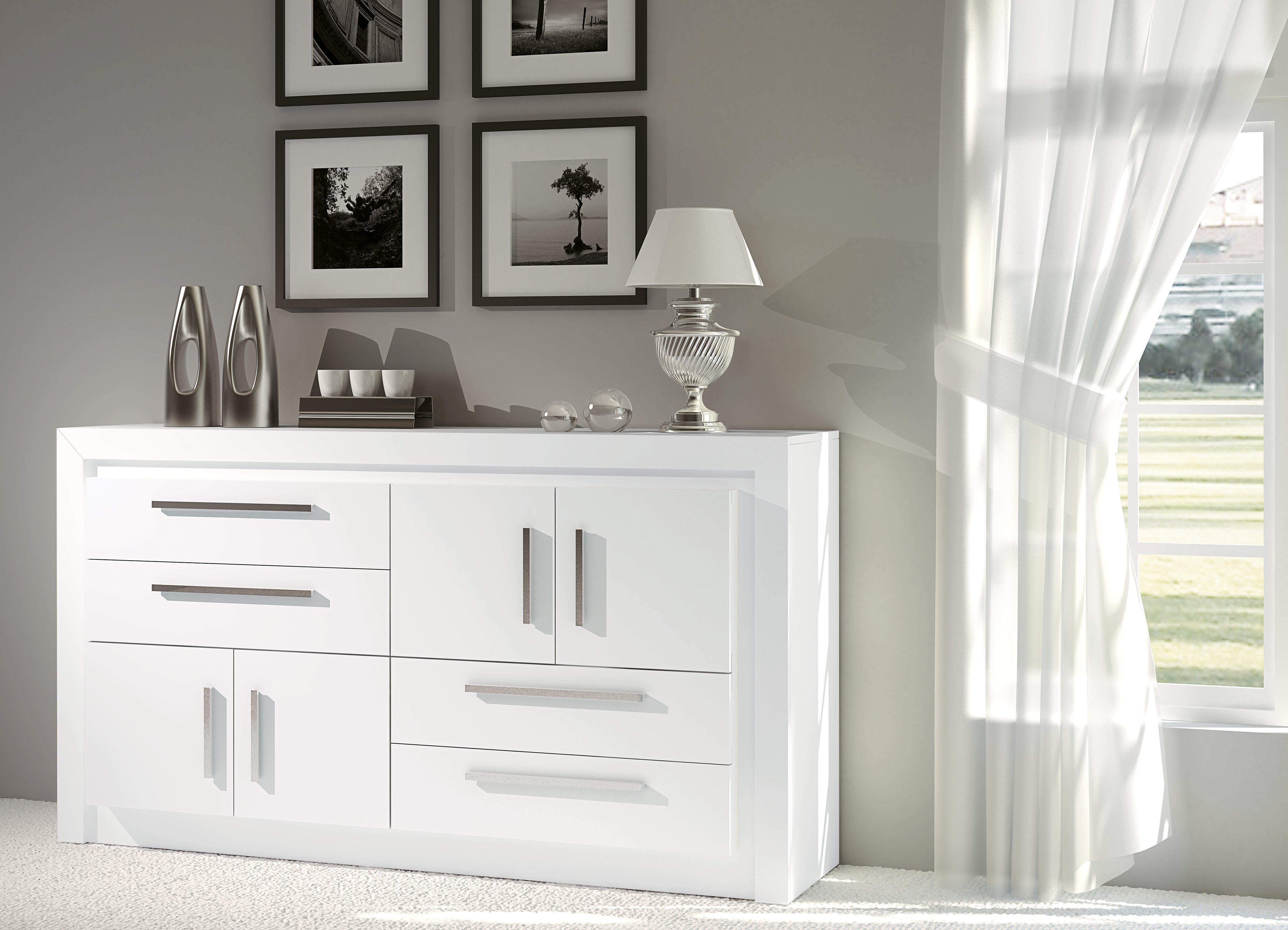 Spago muebles aparadores Lacado de muebles en blanco