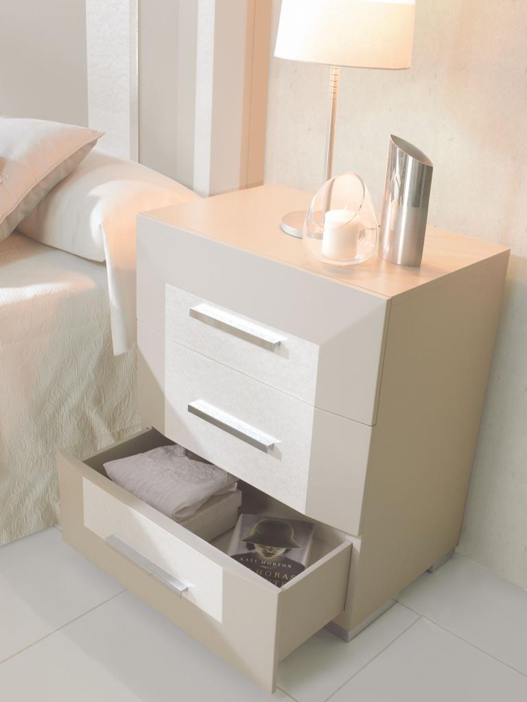 Mesitas de noche blancas mesilla de noche blanca de madera con cajones vintage para dormitorio - Mesitas de noche blancas segunda mano ...